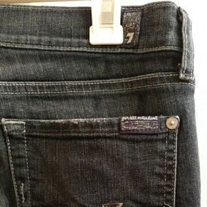 7 For All Mankind Jeans - 7 for all mankind dark blue bootcut jeans 28