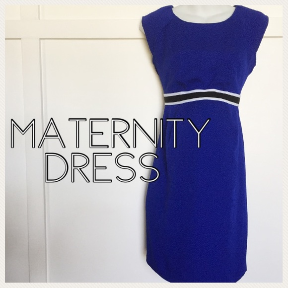 Motherhood Maternity Dresses - Motherhood maternity blue cocktail dress small