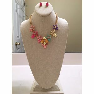  Gorgeous Multicolored Necklace & Earring Set