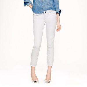 "J. Crew Cropped Matchstick- Size 27"" Light Grey"