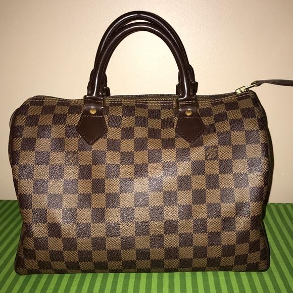 9404fa6848 Louis Vuitton Handbags - Louis Vuitton Speedy 30 Damier Ebene