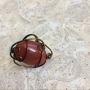 wirequeen jewelry Jewelry - Carnelian ring in bronze wire. Size 6.5. Wirequeen