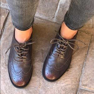 Distressed Wine Brogue Oxford