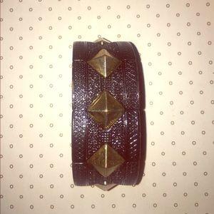 black and gold spike bracelet