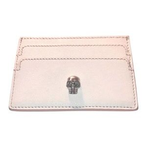 Authentic McQueen Leather Skull Card Holder