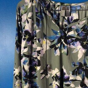 Simply Vera Vera Wang | Blue Floral Blouse