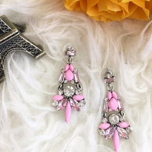 Jewelry - Pretty in pink rhinestone statement earrings