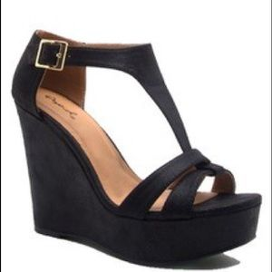 Shoes - Black Kelsey Wedge
