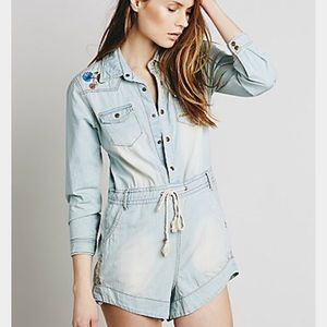 Spell & The Gypsy Collective Pants - SPELL / FREE PEOPLE Chambray jumpsuit.