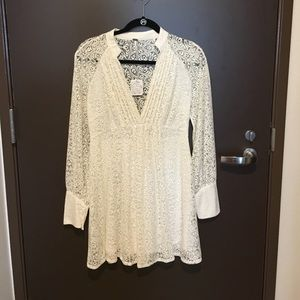 NWT Free People ivory lace dress