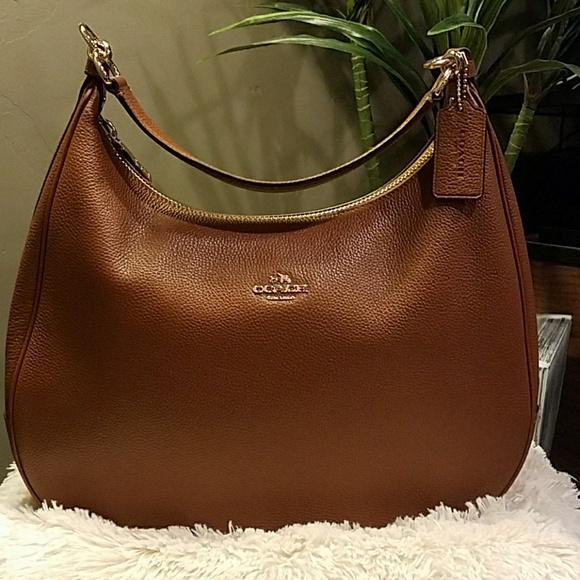 37bd403ef3 Coach Handbags - Coach Harley Hobo in Pebble Leather