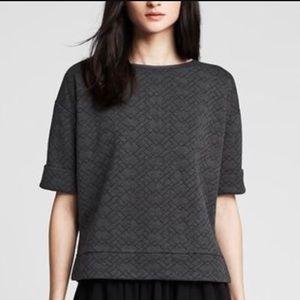 Banana Republic • Quilted sweatshirt top