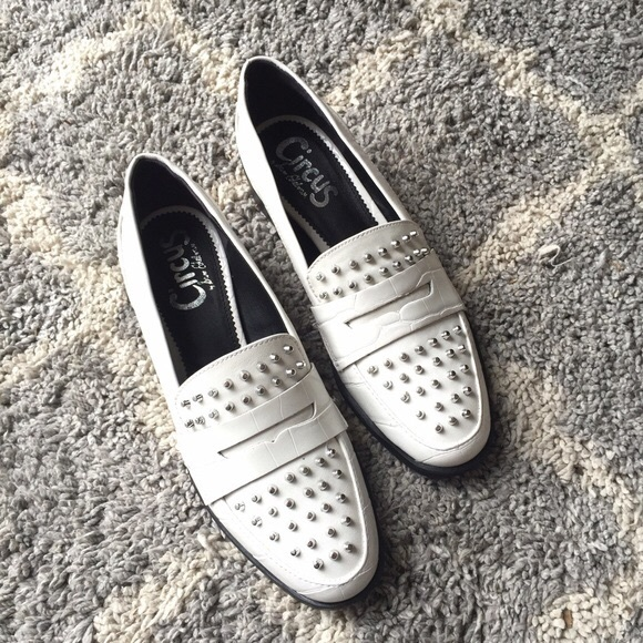 6a01eea3d86841 Circus by Sam Edelman Shoes - Sam Edelman Lali white studded loafers 8  Circus