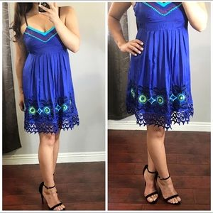 Dresses & Skirts - 1 LEFT Beautifully Blue • Embroidered Lace Dress