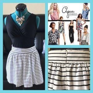 Aqua Dresses & Skirts - ❤️ Black and white striped mini skirt 💜