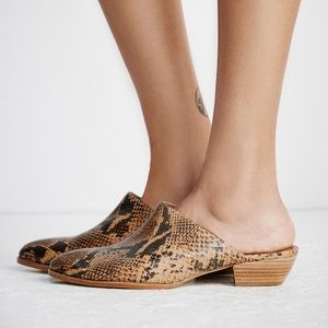 Free People Shoes - Matisse Lita Mule - Tan Snake