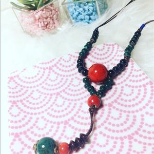 Jewelry - Handmade Ceramic Beaded Long Statement Necklace