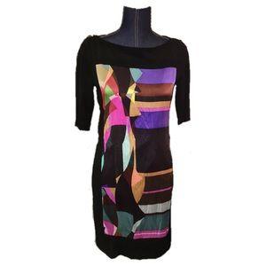 Suzi Chin Dresses & Skirts - 3/4 sleeve Suzi Chin Geometric  print silk dress