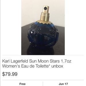 Karl Lagerfeld Accessories - Rare discontinued sun moon and stars & amber roman