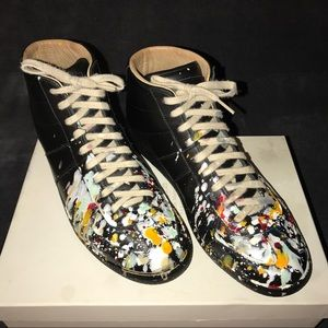 Maison Martin Margiela Other - Maison Martin Margiela paint splash mid top shoe