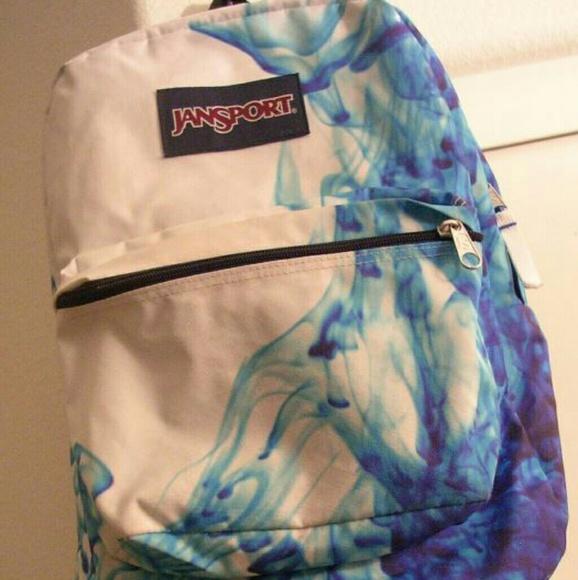 1 JanSport Superbreak Backpack Blue Smoke MINT