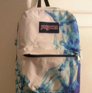 1 JanSport Superbreak Backpack Blue Smoke MINT