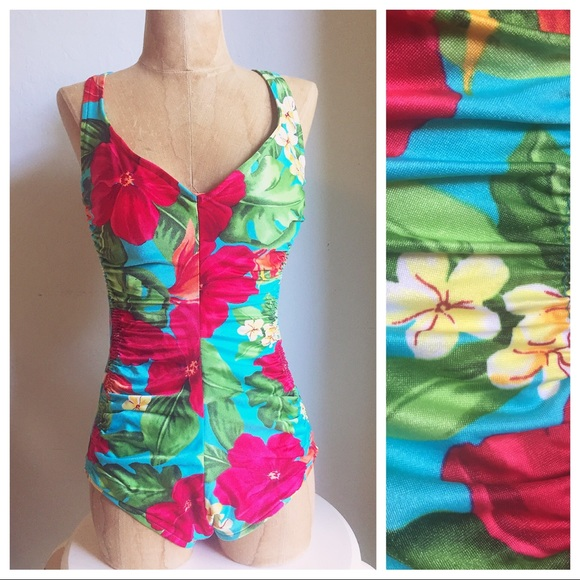 86058f68a6 Maxine of Hollywood Swim | Vintage Hawaiian Pin Up Plus Size Suit ...