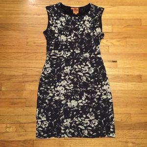 Tory Burch navy floral dress - sz 6