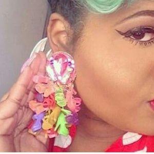Jewelry - Barbie Pink Bejeweled Earrings💖🎀🌸