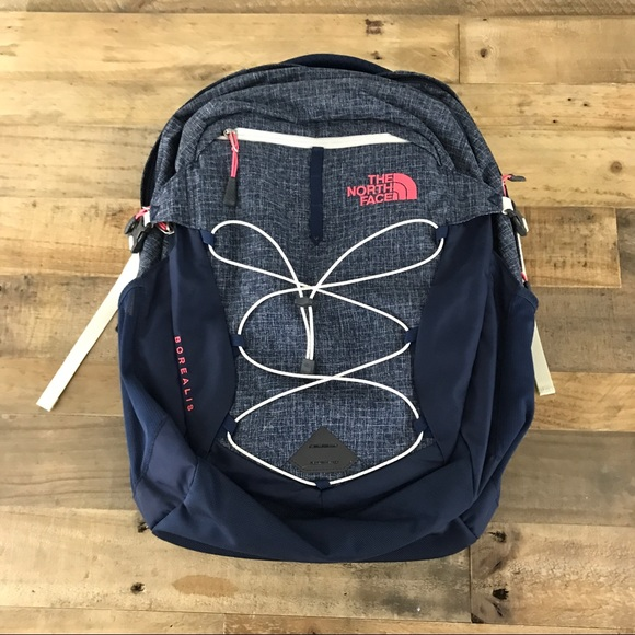 The North Face Women s Borealis Backpack Navy Pink.  M 593cef57620ff74b10009ae0 726883150a2e6