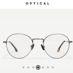 NIB Steven Alan Brushed Gunmetal Glasses