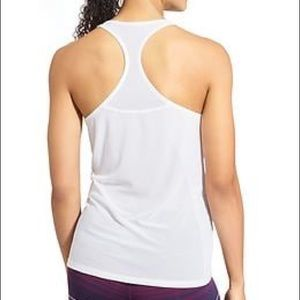 Ath Leta white tank with meshing in back