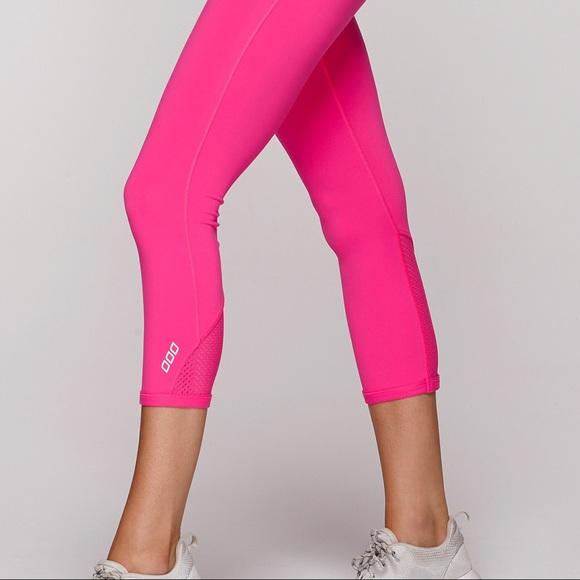795a9419fa67f3 Lorna Jane Pants - Lorna Jane Diva 7/8 Tights S Hot Pink