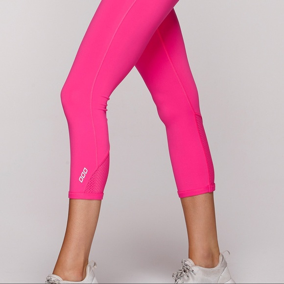 Activewear Womens Lorna Jane Full Length Black Stripe Tights Size Small