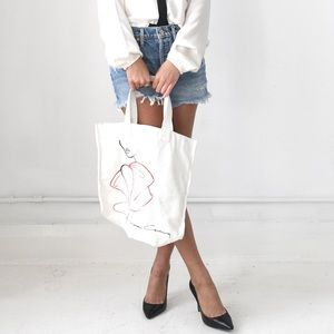 Prabal Gurung fashion illustration logo tote