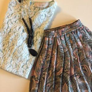 Alfred Dunner Dresses & Skirts - Vintage paisley pleated skirt