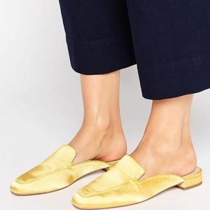 ASOS Shoes - NEW! ASOS Square Toe Yellow Ballet Mules