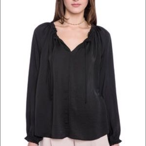 Eight Sixty Tops - NWT Eight Sixty Ruffle Neck Tie Blouse