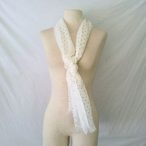 Vintage Accessories - GOLD Polka Dotted Scarf