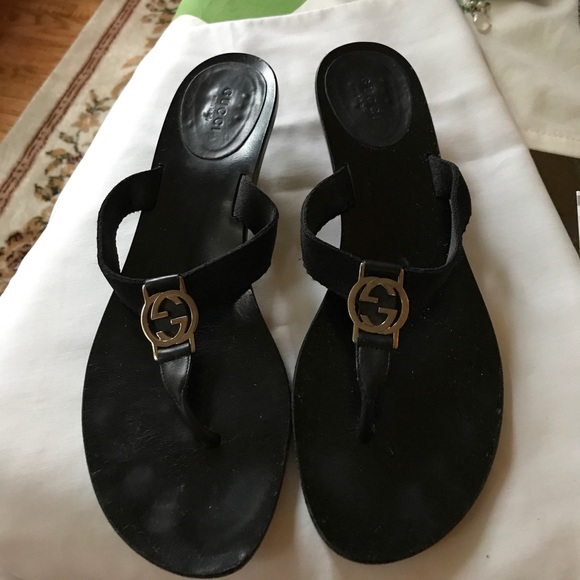 c9183701a3707 Gucci Shoes - Classic Style Gucci Kitten Heel Sandals Size 10