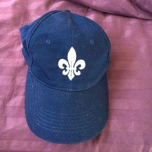 NWOT Fleur de Lis Navy Blue Baseball Cap