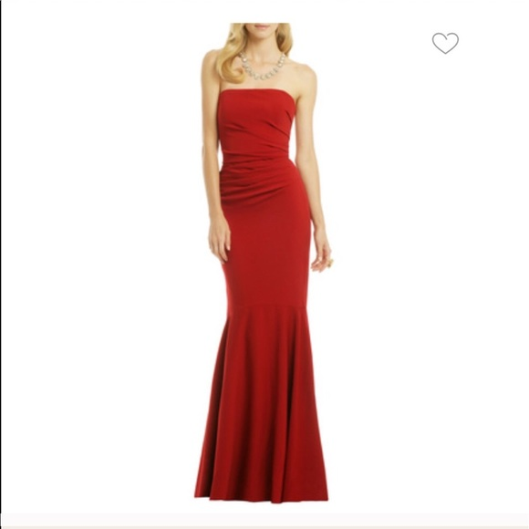 eafe1261fab61 Badgley Mischka Dresses | Beauty In A Bottle Red Gown New | Poshmark