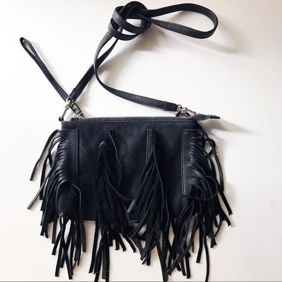 a69fd37a51 True Religion Leather Fringe Sasha Crossbody Bag. M 593d4b056d64bc016d002da0