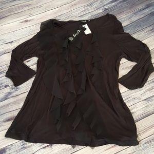 Seventy Tops - Seventy Seven Luxe black blouse, size 18/20 NWT