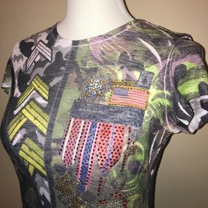 Romeo & Juliet Couture Tops - 🇺🇸 perfect for 4th of July military tshirt 🇺🇸