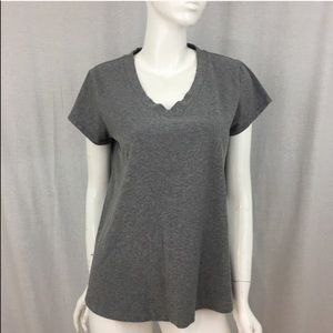 🍭XL a.n.a Gray V-neck Maternity Basic T-shirt Top