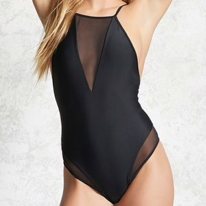 Other - BNWT Forever21 sheer v neck one piece