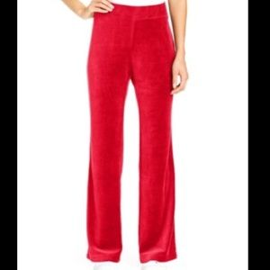 Style & Co Pants - Red velour Track pants