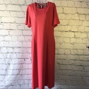 Appleseed's Dresses & Skirts - Appleseeds Dress Medium Coral Midi Vintage Style