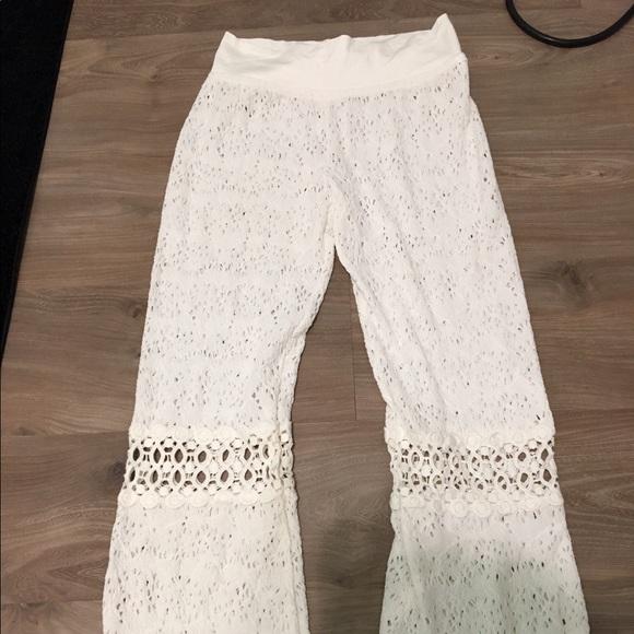 Solitaire Swim Swim Crocheted Cover Up Pants Medium Poshmark